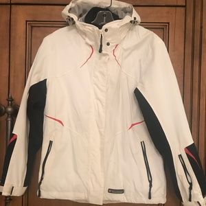 Worn once white ski jacket